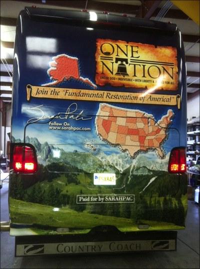Sarah Palin's Bus - Ass-End