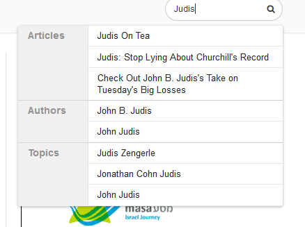 Judis search results