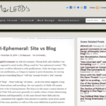 Less Ephemeral: Site vs Blog