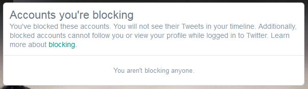 you arent blocking anyone