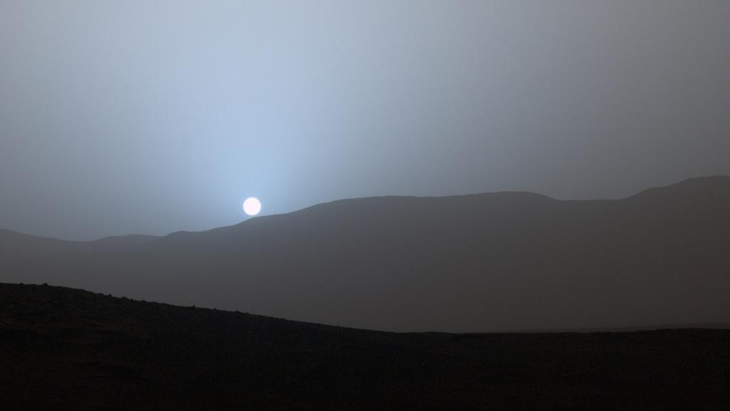 Sundown on Mars