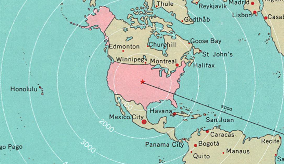 World Around the United States - National Atlas of the United States (1970) Detail