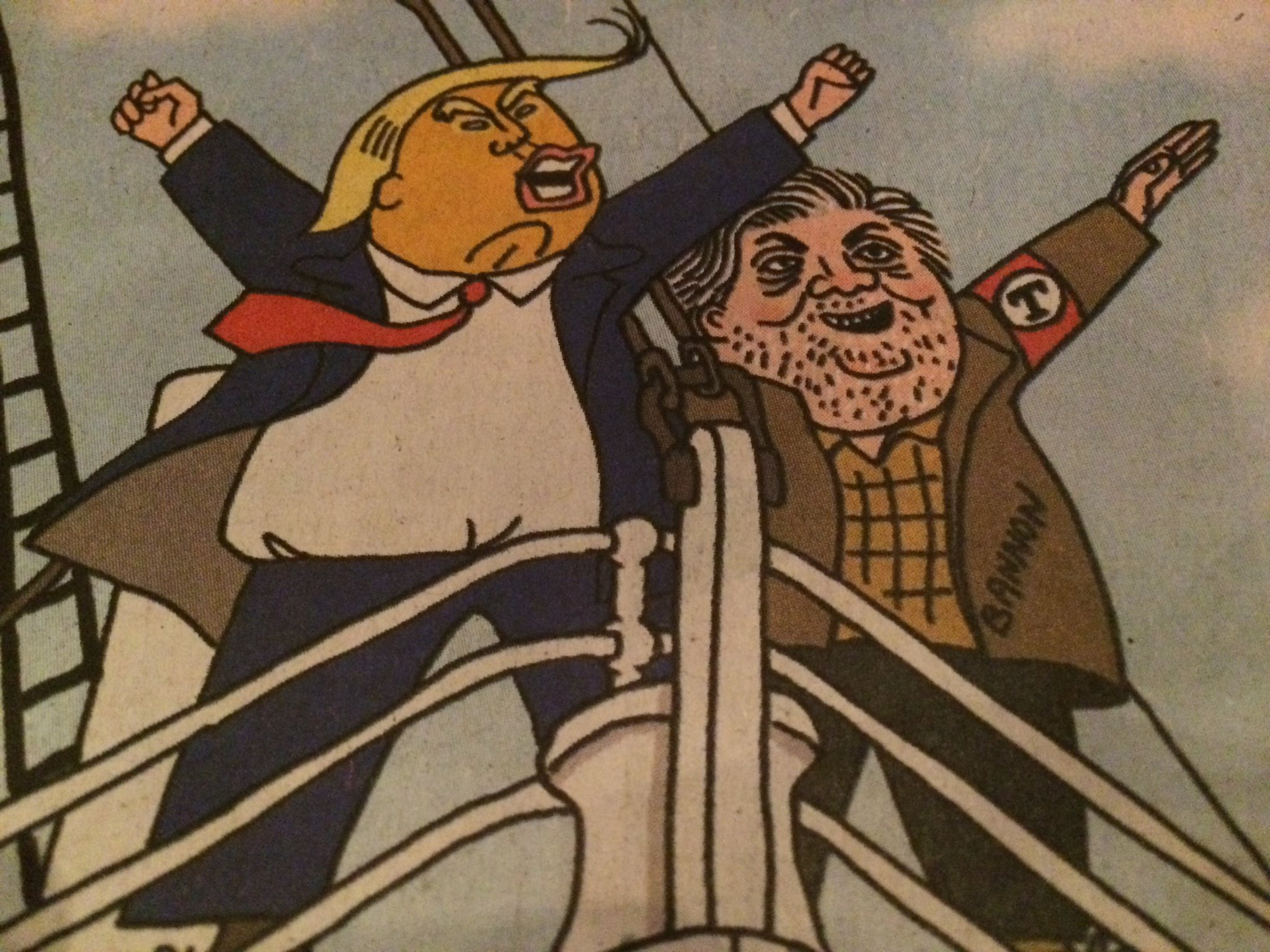 Trump-Bannon Titanic - Cartoon from China Daily